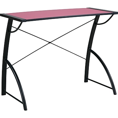 Office Star OSP® Designs Wood Trace Reversible Desk, Caliste Pink/Black