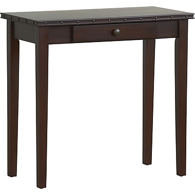 Office Star Tucson 28 1/2in. H x 15in. W x 30in. D Veneers and Solid Wood Foyer Table, Dark Espresso