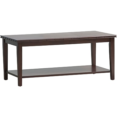 Office Star OSP® Designs Tucson Coffee Table with Nail Head Accent, Dark Espresso