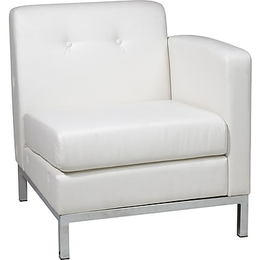 Office Star Avenue Six® Wall Street Single Arm Chairs RAF, White
