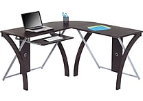 Office Star Corner Computer Desk, Espresso (xT82L)