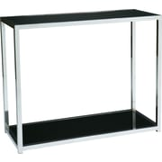"Office Star Avenue Six® 29"" H x 36"" W x 15"" D Wood/Chrome Yield Foyer Table, Chrome/Black"