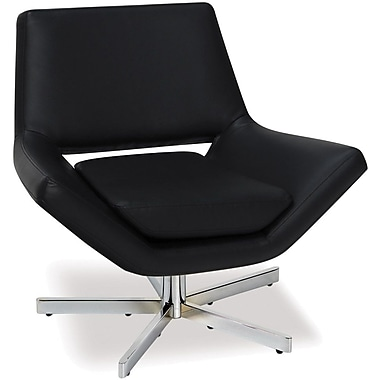 Office Star Avenue Six® Vinyl Yield 31in. Wide Chair, Black