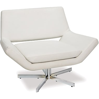 Office Star Avenue Six® Vinyl Yield 41in. Wide Chair, White