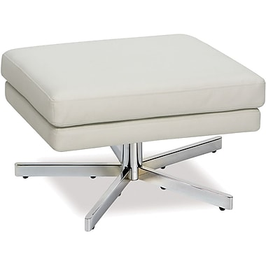 Office Star Avenue Six® Vinyl Yield Ottoman, White