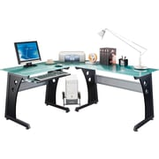 RTA Products Techni Mobili L-Shaped Computer Desk , Graphite