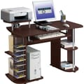 RTA Products Techni  Multifunction Computer Desk, Chocolate