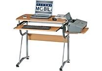 RTA Products Techni Mobili Compact Computer Desk, Cherry