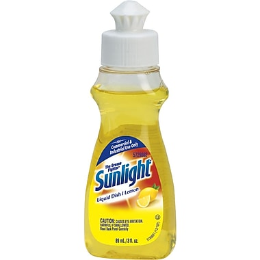 SunlightLiquid Dish Soap, Lemon Scent, 3 oz., 90/Case