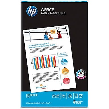HP® – Papier à copies Office, 20 lb, 8 1/2 po x 14 po, rame