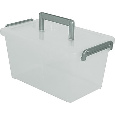 Iris 5.38 Quart Deep Modular Latch Box with Handle