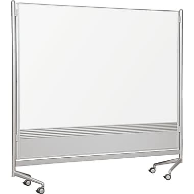 Best-Rite Mobile Dry Erase Dividers, Laminate Surface, 6' x 6'