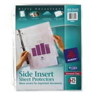 Avery&reg Side Insert Clear Sheet Protectors