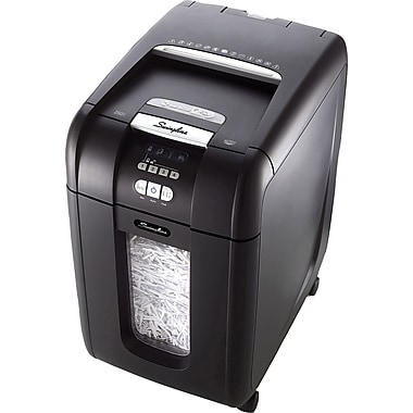 Swingline® Stack and Shred 300X Personal Cross-Cut Automatic-Feed Shredder