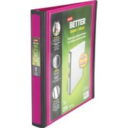 1 Staples® Better® View Binders with D-Rings, Fuchsia