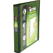 1 Staples® Better® View Binders with D-Rings, Olive