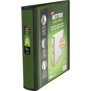 1-1/2 Staples® Better® View Binders with D-Rings, Olive