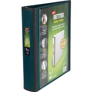 "Staples® Better® 1-1/2"" View Binders with D-Rings, Dark Teal"