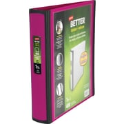 1-1/2 Staples® Better® View Binders with D-Rings, Fuchsia