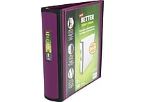 2' Staples® Better® View Binders with D-Rings, Plum