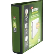 2 Staples® Better® View Binders with D-Rings, Olive