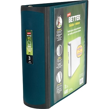 3in. Staples® Better® View Binders with D-Rings, Dark Teal
