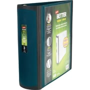 3 Staples® Better® View Binders with D-Rings, Dark Teal