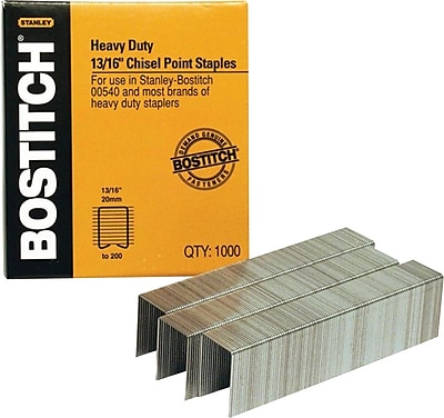 Stanley-Bostitch Heavy-Duty Staples, 13/16 - Up to 200