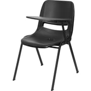Flash Furniture 2RUTEO1BKLTAB Plastic Arm Chair, Black