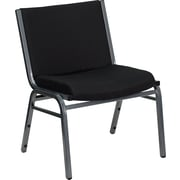 Flash Furniture HERCULES Series 1000 lb. Capacity Big and Tall Extra Wide Fabric Stack Chair, Black, 2/Pack