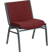 Flash Furniture HERCULES Series 1000 lb. Capacity Big and Tall Extra Wide Fabric Stack Chair, Burgundy, 2/Pack