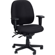 Raynor Eurotech Fabric 4 x 4 Swivel Task Chair, Black