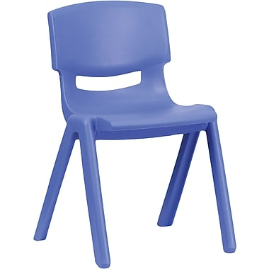 Flash Furniture Plastic Stackable School Chair with 13 1/4'' Seat Height, Blue