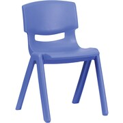 Flash Furniture Plastic Stackable School Chair with 13.25'' Seat Height, Blue, 4/Pack