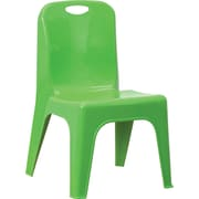 Flash Furniture Plastic Stackable School Chair with Carrying Handle and 11'' Seat Height, Green, 4/Pack