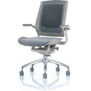 Raynor Bodyflex Fabric Manager's Chair, Chrome Frame, Gray
