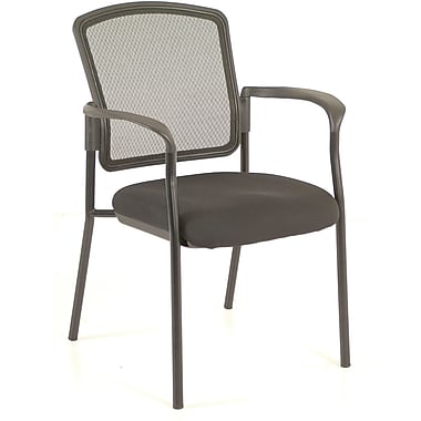 Raynor Eurotech Dakota 2 Vinyl/Mesh Guest Chair, Basis Onyx