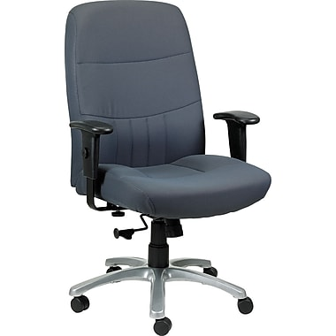 Raynor BM9000-CHAR Fabric High-Back Executive Chair with Adjustable Arms, Charcoal