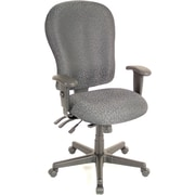 Raynor Eurotech 4 x 4 XL Fabric Ergonomic High-Back Task Chair, Fabric, Charcoal