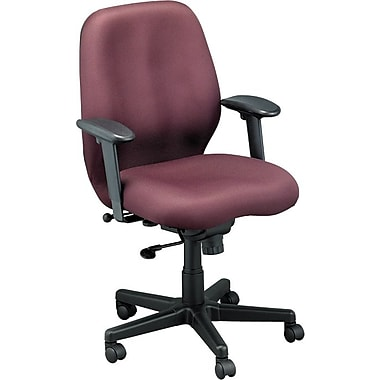 Raynor FM550-BUR Aviator Fabric Mid-Back Task Chair with Adjustable Arms, Burgundy