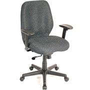 Raynor FM5505-CH Aviator Fabric Mid-Back Task Chair with Adjustable Arms, Charcoal