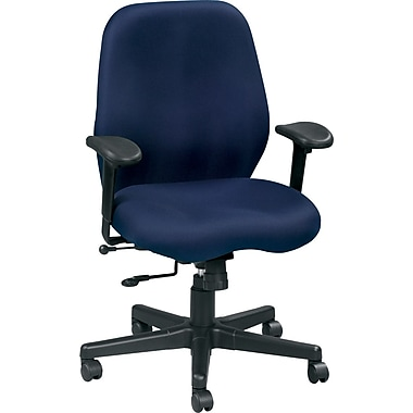 Raynor FM5505-BLK Aviator Fabric Mid-Back Task Chair with Adjustable Arms, Black