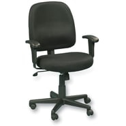 Raynor Eurotech Newport Fabric Swivel Tilt Task Chair, Black