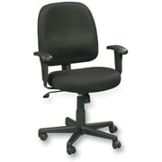 Eurotech Seating FT5241-AT33BLk Newport Fabric Task Chair with Adjustable Arms, Black