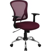 Flash Furniture Mid-Back Mesh Executive Chair, Fixed Arms, Red