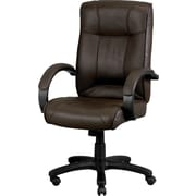 Eurotech Seating LE9406BRN Odyssey Leather Executive Chair with Fixed Arms, Brown