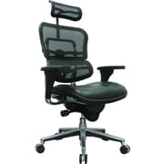 Eurotech Seating LEM4ERG-LBK(N) Ergohuman Leather High-Back Executive Chair with Adjustable Arms, Black
