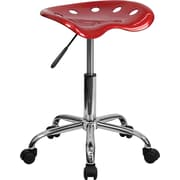 "Flash Furniture 25.75"" Vibrant Tractor Stool, Wine Red (LF214AWNRED)"