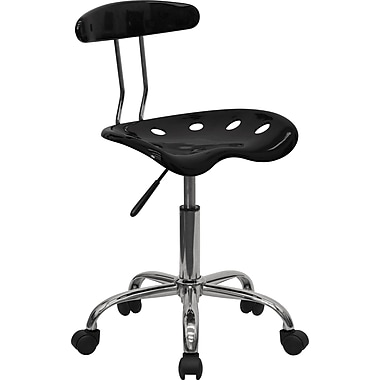 Flash Furniture Vibrant Computer Task Chair with Tractor Seat, Black