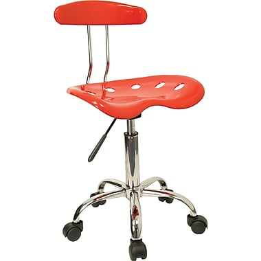 Flash Furniture Vibrant Computer Stool with Tractor Seat, Red